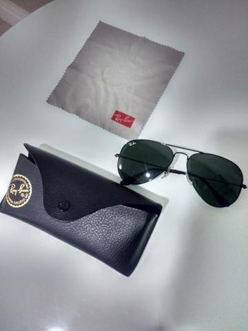 Ray Ban Aviador original preto - Bijouterias, relógios e acessórios ... 4c4ec55077