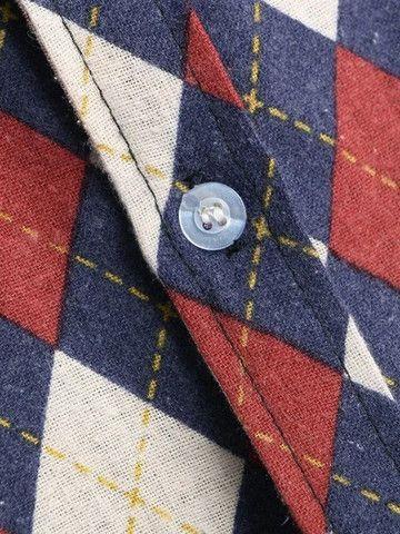 Camisa De Botão Masculina Em Linho Shein - Estampa Retrô - Tamanho G - Foto 3