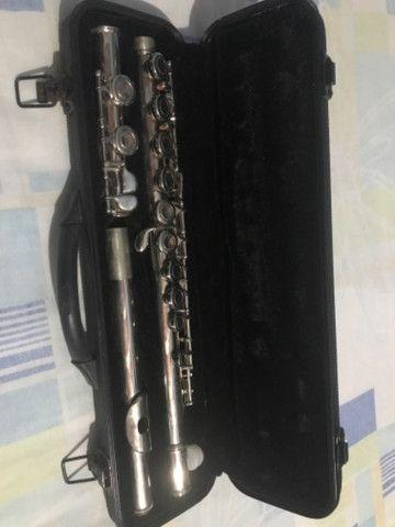 Flauta Transversal Niquelada Michael - Foto 2