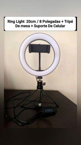 Ring Light 8 Polegadas Completo ( Produto Novo , Como Na Foto )