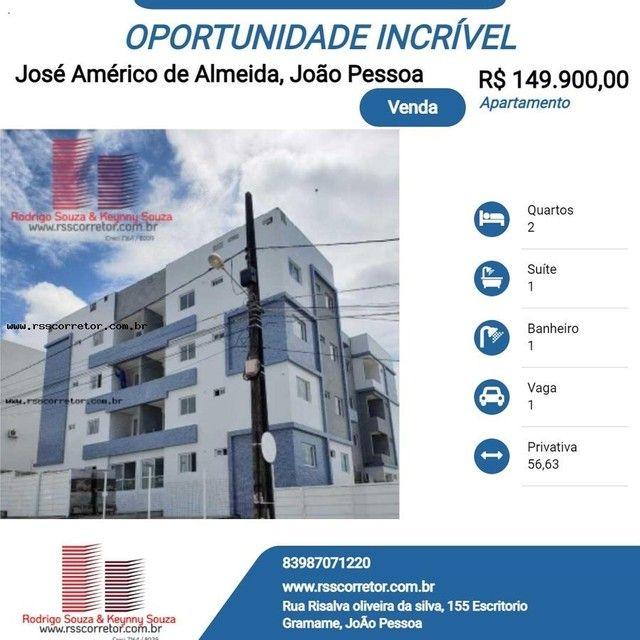 Apartamento para Venda em João Pessoa, José Américo de Almeida, 2 dormitórios, 1 suíte, 1