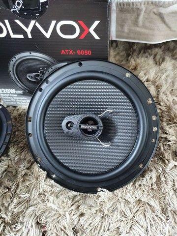 Alto falante 6 polegadas Polyvox 110w RMS, novo! - Foto 4