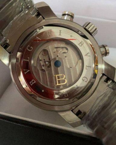 Relógio BVLGARI Iron Man Prateado automático a prova d'água - Foto 5