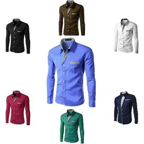 72b043ad90 Camisa social masculina slim fit promoção (aceitamos cartões de crédito e  débito)
