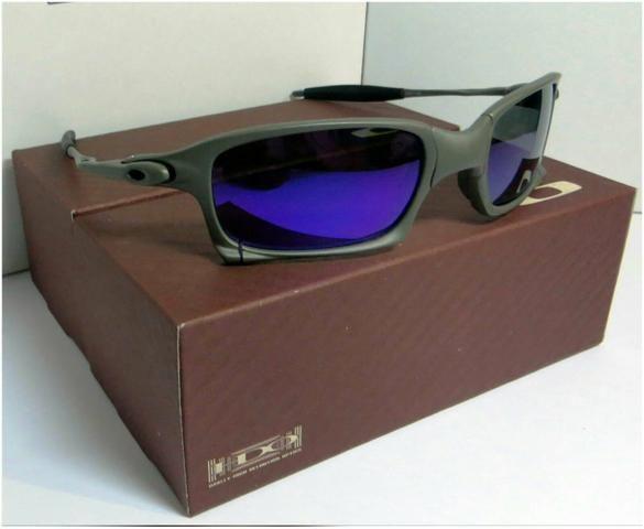 a85151544 Óculos Oakley Xsquared Xmetal Azul Magic Polarizada Novo Frete grátis