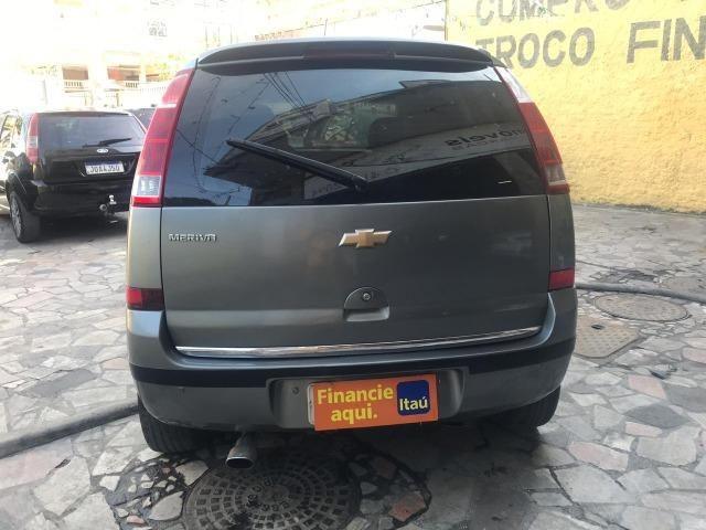 Chevrolet Meriva 1.4 8v flex Couro (Queima de estoque) + kit gas - Foto 7