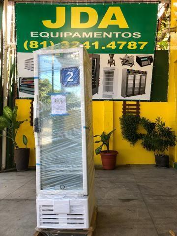 Refrigerador vertical 284 litros porta de vidro - ideal para bebidas - 2 anos de garantia - Foto 4