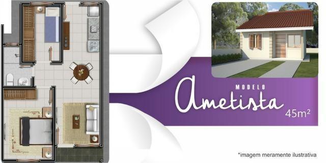 Casa 2 dormitórios com pátio grande, em Nova Santa Rita - Foto 8