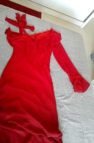 Vestido de festas vermelho - Foto 4