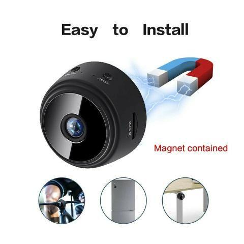 Mini câmera a9 wifi, visão noturna, suporte a internet! 4x sem juros! - Foto 4