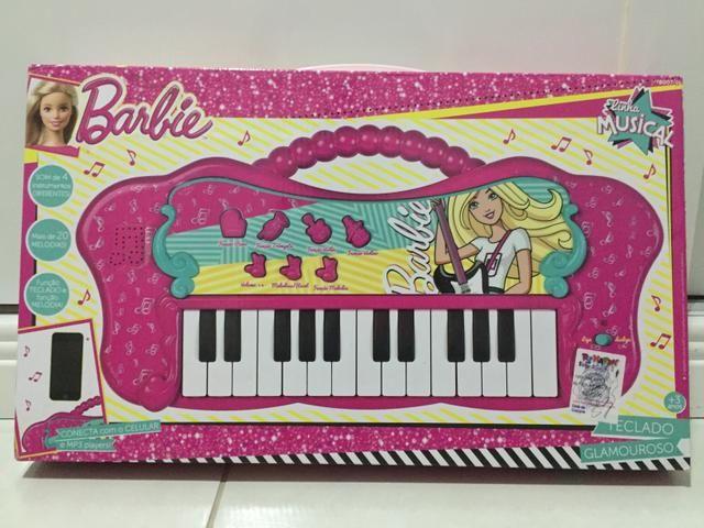 Vendo teclado musical da Barbie na caixa! - Foto 5