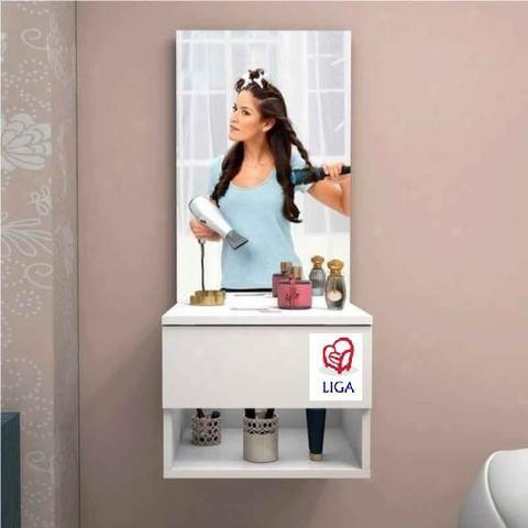 Liga móveis! Penteadeira suspensa com espelho - Foto 2