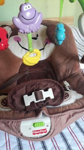 Chiqueirinho chicco + cadeirinha vibratória + babá eletrônica + carrinho de bebê., - Foto 3