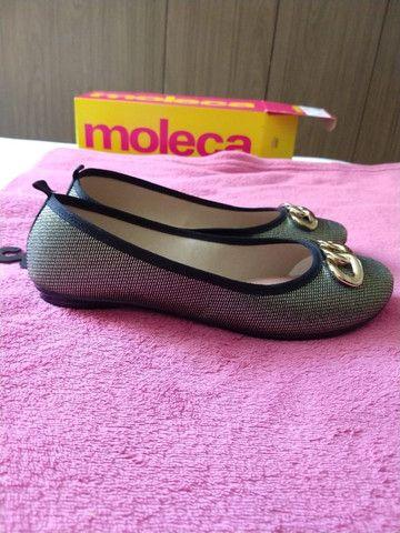 Sapatilha /Sandália/ Sapato Moleca Feminina dourada - Nova na Caixa
