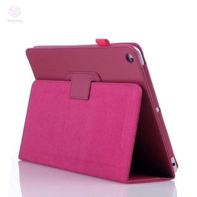 Capa Ultra Fino Para iPad Mini 1/2/3 Couro Pu - Rosa - Novo - Foto 2