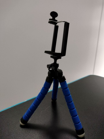 Mini Tripé Portátil Celular Suporte Flexível Regulagem Alt - Foto 2