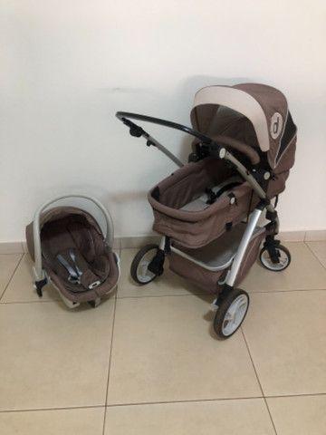 Carrinho + Moisés + bebê conforto Dzieco Maly  - Foto 2
