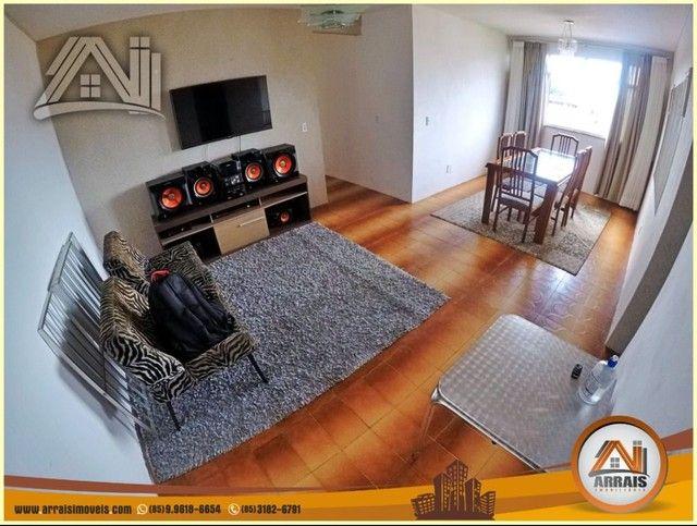 Apartamento com 3 dormitórios à venda, 96 m² por R$ 280.000,00 - Vila União - Fortaleza/CE - Foto 2