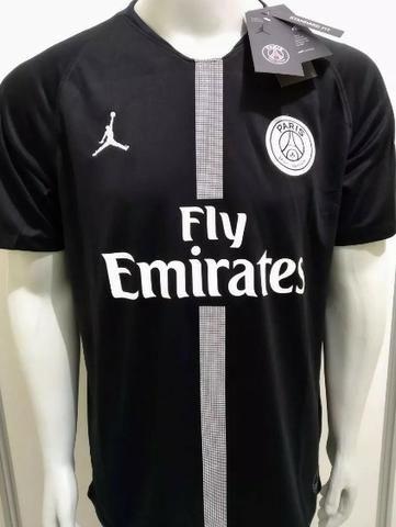 cd4aa31442 Camisa de Time PSG Paris Saint Germain Jordan Preta - Roupas e ...
