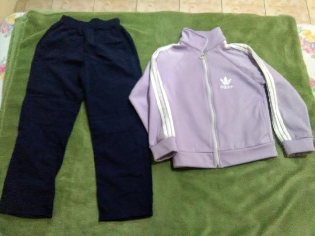 9d961ea66 Blusa Adidas, calça de tactel e saia número 6 - Artigos infantis ...