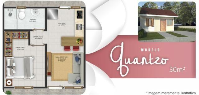 Casa 2 dormitórios com pátio grande, em Nova Santa Rita - Foto 9