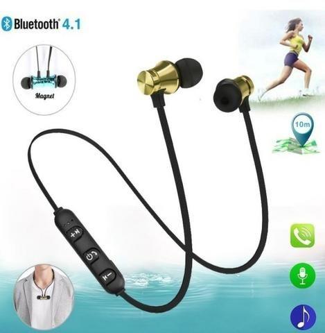 Fone De Ouvido Magnetico Altomex Original Bluetooth Celular Android iOS Música - Foto 2