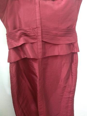 Vestido acetinado Marsala de festa Curto Tam 40 - Foto 5