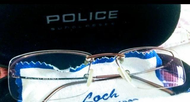 Armação óculos marca Italiana Police inclusa lente descanso ... 609d575cba