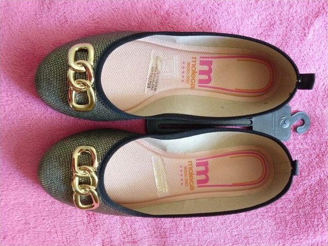 Sapatilha /Sandália/ Sapato Moleca Feminina dourada - Nova na Caixa - Foto 2