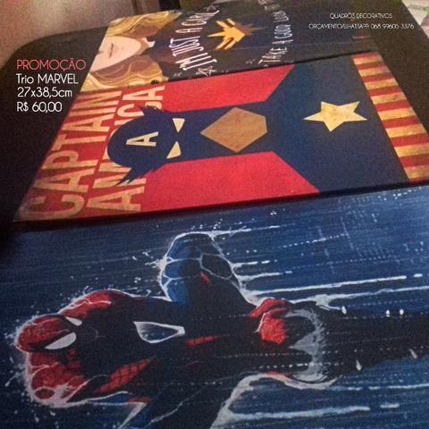 Só hoje! Trio da Marvel, Quadro decorativo R$50,00