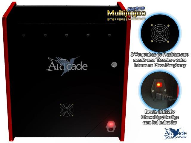 """Arcade Bartop Fliperama Multijogos Retro Tema: Street Fighter ll com 7050 jogos Tela: 22"""" - Foto 3"""