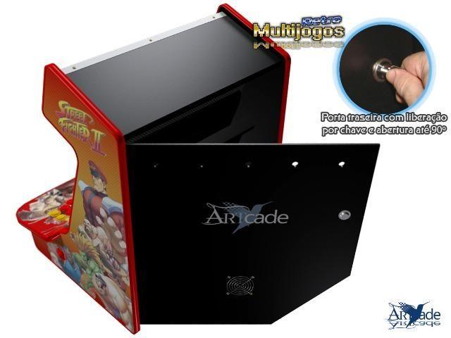 """Arcade Bartop Fliperama Multijogos Retro Tema: Street Fighter ll com 7050 jogos Tela: 22"""" - Foto 4"""