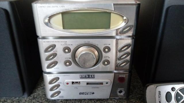 Som toca CD, MP3, pen drive, cartão de memória, rádio - Foto 4