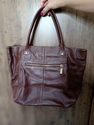 Bolsa em couro Folha seca - Foto 2