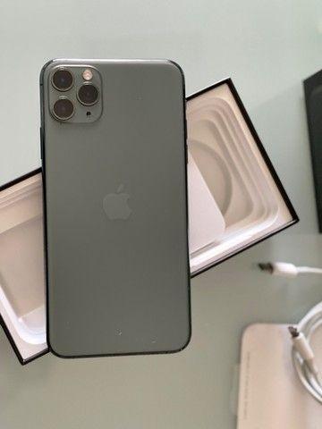 iPhone 11 Pro Max 256 Gb Verde, Estado De Novo, Bateria 96 - Foto 3