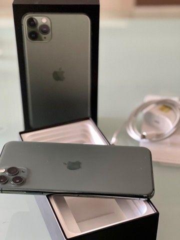 iPhone 11 Pro Max 256 Gb Verde, Estado De Novo, Bateria 96 - Foto 2