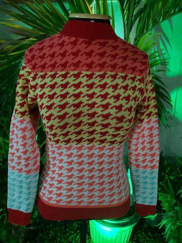 Blusa manga tricot modal - Foto 3