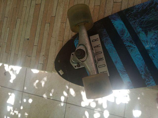 Simulador de surf Hondar semi-novo skate sk8 - Foto 4