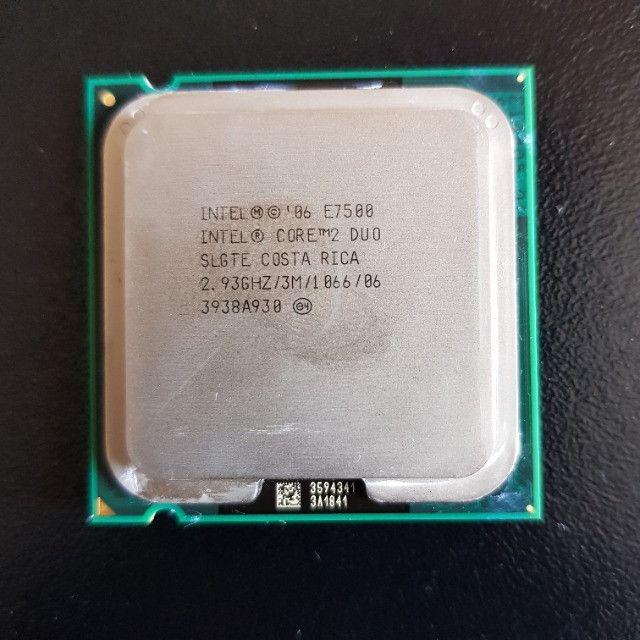Processador Intel® Core2 Duo E7500 2,93ghz Com Cooler