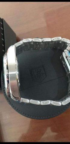 Relógio Tag Heuer Mercedes Benz SLS fundo preto a prova d'água - Foto 3