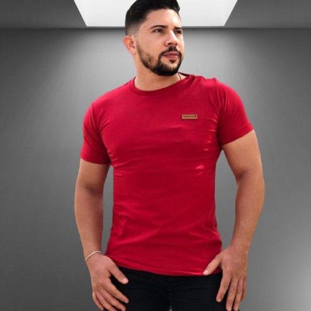 Kit 10 camisas lisas manga básica Algodão