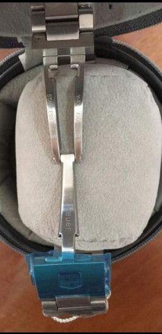 Relógio Tag Heuer Mercedes Benz SLS fundo preto a prova d'água - Foto 6