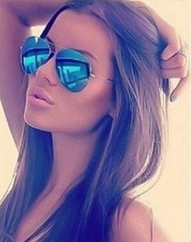 b0bd9e748 Óculos De Sol Azul Espelhado Aviador - Bijouterias, relógios e ...