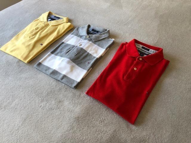 d1fa29cd72 3 Camisas Polo Tommy Hilfiger - Slim Fit - USA - Aceito Cartão de Crédito