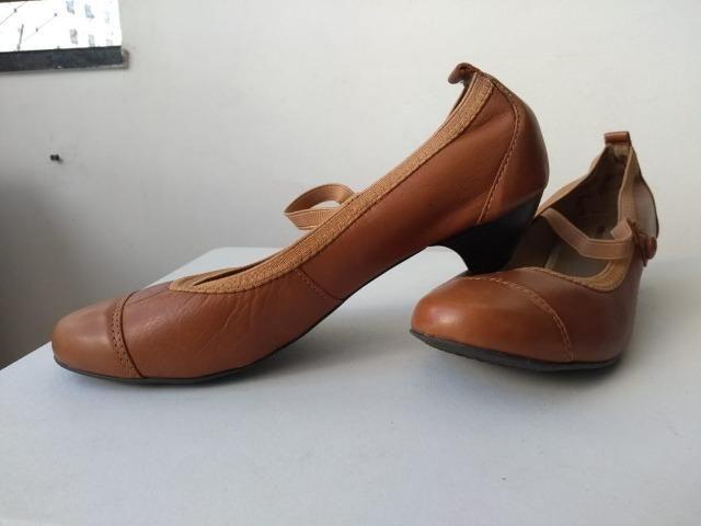 554518560 Sapato Nr 38 da Sonho dos pés na cor marrom com alça em elástico ...