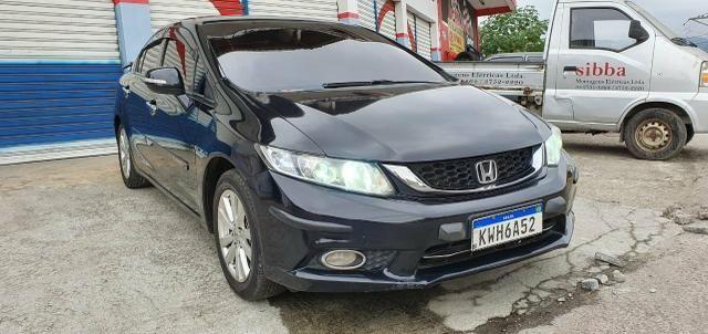 Honda Civic Sedan LXR 2.0 Flexone + GNV 5g 16V Aut. 4p - Preto - 2014 46.900 - Foto 2