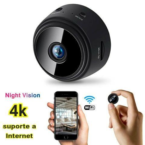 Mini câmera a9 wifi, visão noturna, suporte a internet! 4x sem juros!
