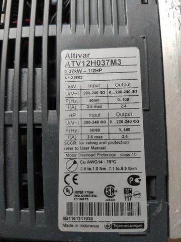 Inversor de frequência Altivar 0,5CV 220V - Foto 4