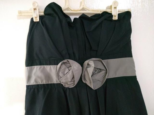 Vestido de festa Preto Curto Tomara-que-caia G - Foto 2