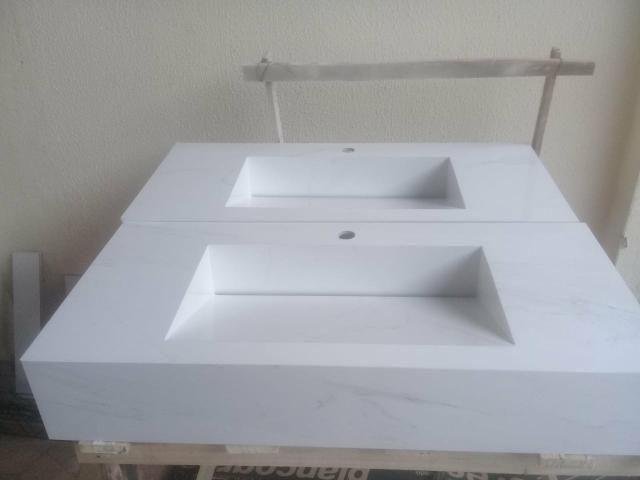 Pias d porcelanato para banheiro - Foto 2